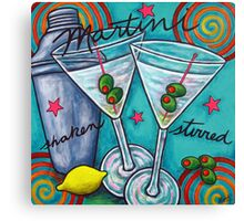Retro Martini Canvas Print