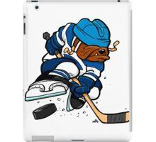 Ice hockey playing dog iPad Case/Skin