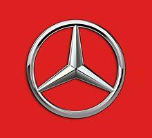 Mercedes-Benz - 3D Badge on Red T-Shirt