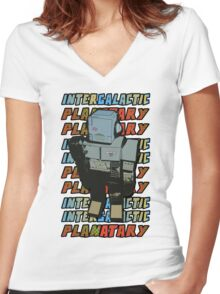 Beastie Boys - Intergalactic Planatary Women's Fitted V-Neck T-Shirt