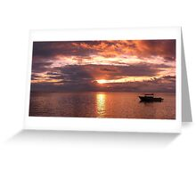 Sunset Fishing Greeting Card