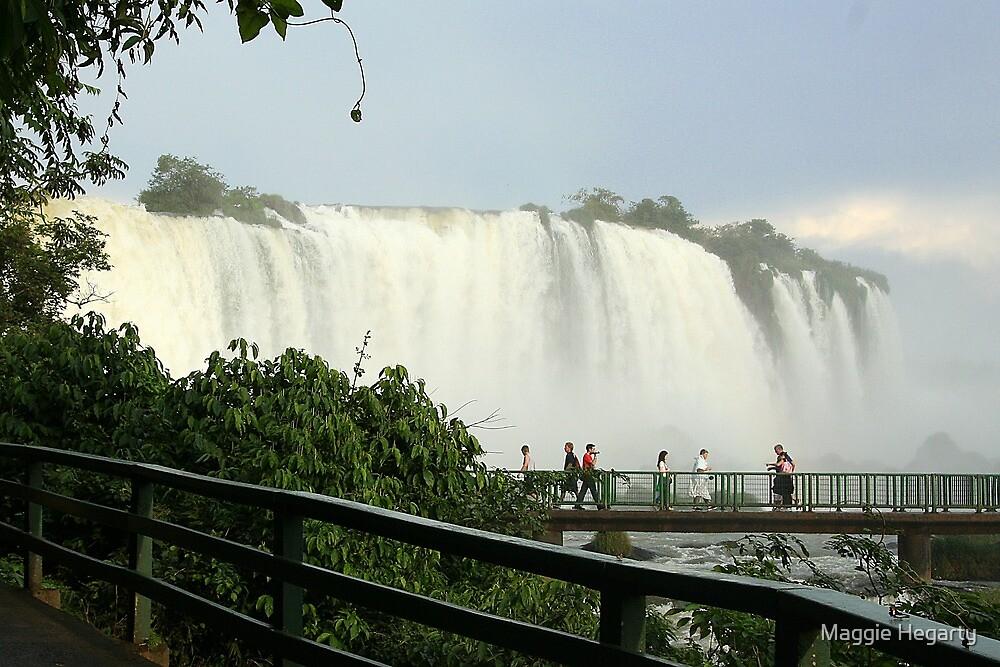 Walkway Iguassu Falls by Maggie Hegarty
