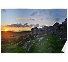 Dartmoor: Sunset at Black Tor Poster