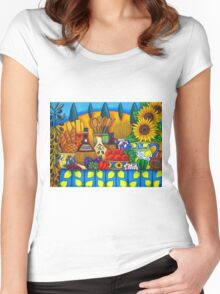 Tuscany Delights Women's Fitted Scoop T-Shirt
