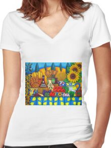 Tuscany Delights Women's Fitted V-Neck T-Shirt