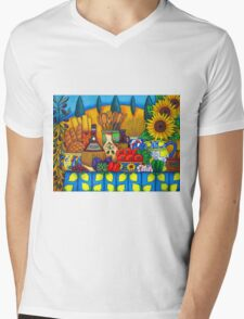 Tuscany Delights Mens V-Neck T-Shirt