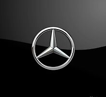 Mercedes-Benz - 3D Badge on Black by Serge Averbukh