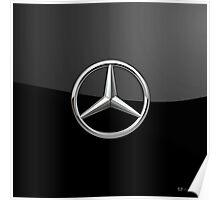 Mercedes-Benz - 3D Badge on Black Poster