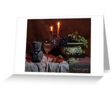 Wine and Candles (still life) Greeting Card