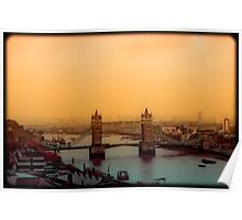 Sunset Over Tower Bridge Poster