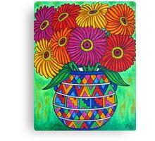 Zinnia Fiesta Canvas Print