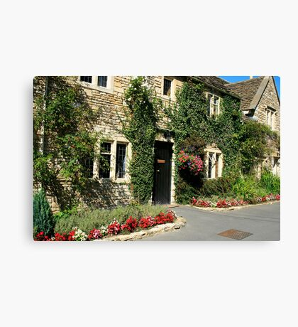 Castle Combe Streetscape Canvas Print