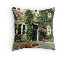 Castle Combe Streetscape Throw Pillow