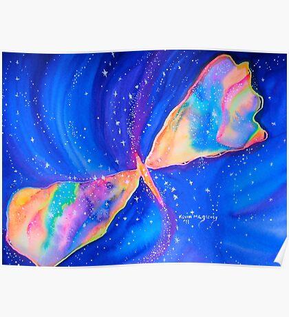 Watercolor Butterfly Nebula-Star Seeker........ Poster
