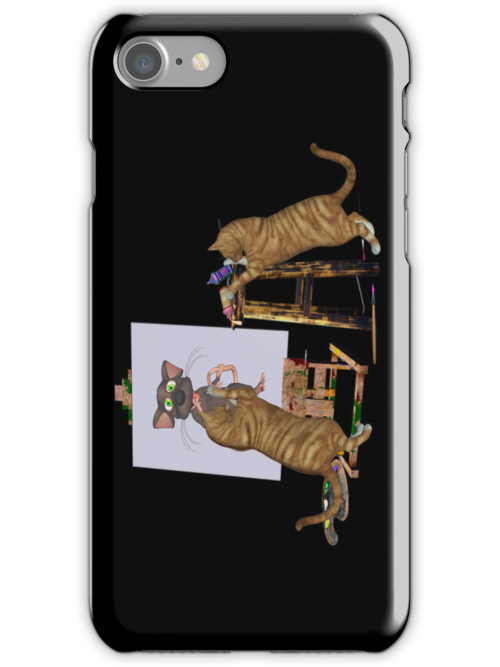 Cheeky Cats .. iphone case by LoneAngel