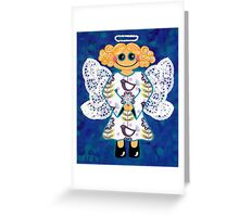 Blue Angel - She's mellow and sweet Greeting Card