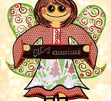 Christmas Angel - spreading seasons greetings. by Lisafrancesjudd