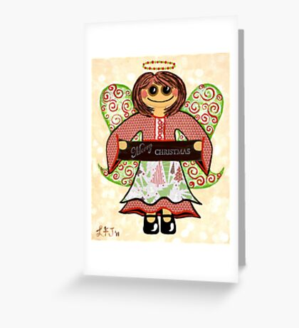 Christmas Angel - spreading seasons greetings. Greeting Card