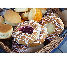 Baked Doughnuts and Cheese Scones Photographic Print