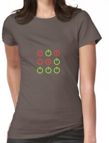 Power Up! Power Off! Hacker Glider Symbol Womens Fitted T-Shirt