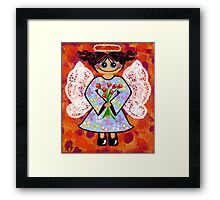 Groovey Angel - She's a hippy chick! Framed Print