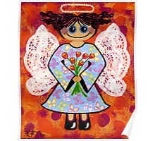 Groovey Angel - She's a hippy chick! Poster