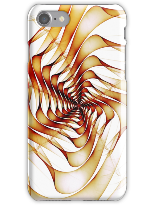 Ribbons Fractal Design for iPhone Case by Anastasiya Malakhova