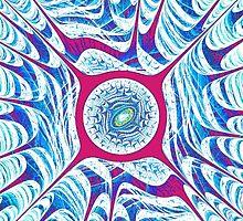 Ice Dragon Eye iPhone Case by Anastasiya Malakhova