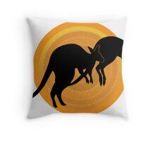 Kangaroos Running Throw Pillow