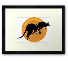 Kangaroos Running Framed Print