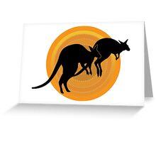 Kangaroos Running Greeting Card