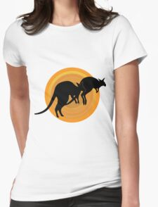 Kangaroos Running Womens Fitted T-Shirt