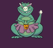 T-rex goes Trick or Treating Womens Fitted T-Shirt