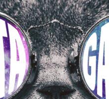 Delta Gamma Cat Galaxy Sticker