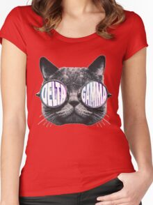 Delta Gamma Cat Galaxy Women's Fitted Scoop T-Shirt