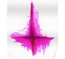 Satanism is better in pink? Inverted Cross Poster