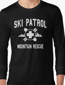 Ski Patrol & Mountain Rescue (vintage look) Long Sleeve T-Shirt