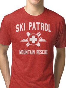 Ski Patrol & Mountain Rescue (vintage look) Tri-blend T-Shirt