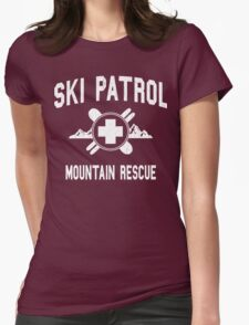 Ski Patrol & Mountain Rescue (vintage look) Womens Fitted T-Shirt