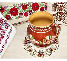 Hungarian Pottery and Pillows Photographic Print