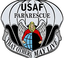 USAF Para Rescue Special Forces Logo by Spacestuffplus