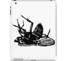 Dead Fly linocut iPad Case/Skin