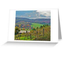 Mountain Vineyard Greeting Card