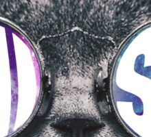 Phi Sig Cat Galaxy Sticker
