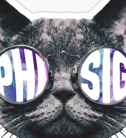 Phi Sig Cat Galaxy Sticker