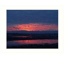 Sunset in Washington Art Print
