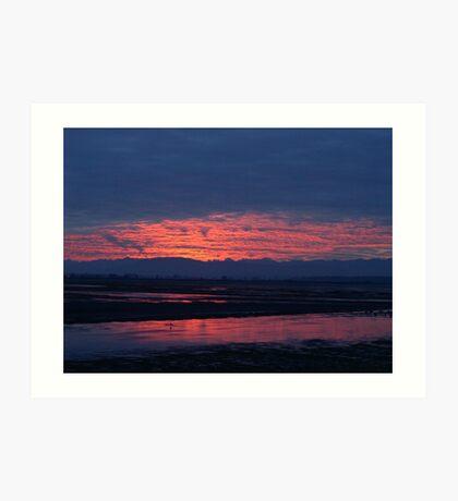 Sunset in Washington Art Print