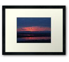 Sunset in Washington Framed Print