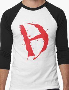 Diamanda Hagan D-H Logo (Red) Men's Baseball ¾ T-Shirt