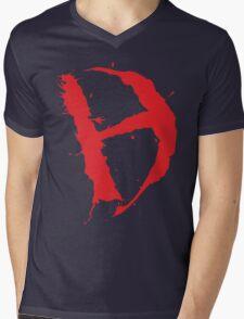Diamanda Hagan D-H Logo (Red) Mens V-Neck T-Shirt